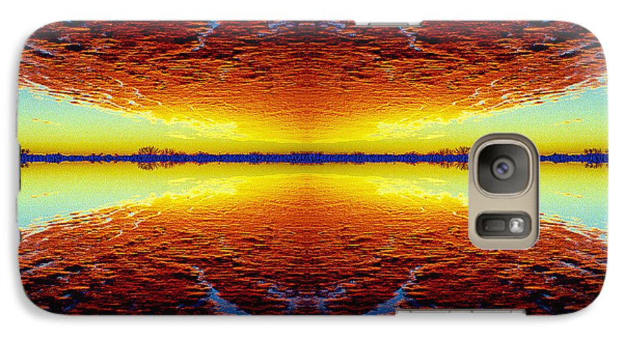 Sunset Galaxy S7 Case featuring the photograph Last Sunset by Nancy Mueller