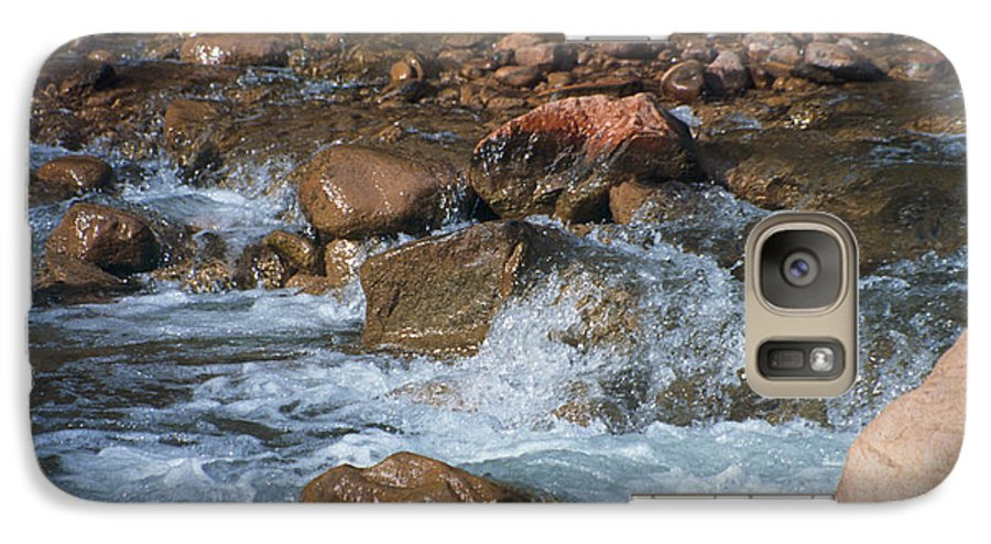 Creek Galaxy S7 Case featuring the photograph Laughing Water by Kathy McClure