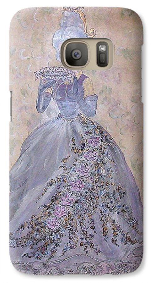 Still Life Galaxy S7 Case featuring the painting Lavender Lady by Phyllis Mae Richardson Fisher