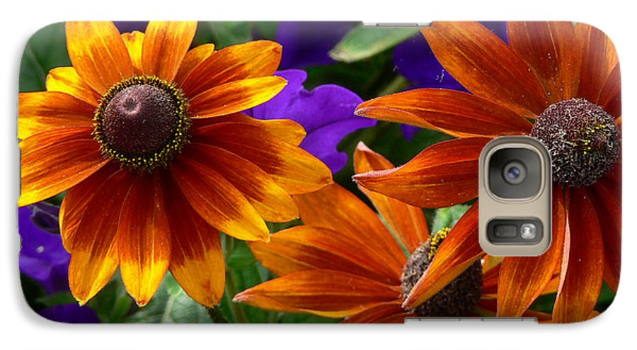 Flowers Galaxy S7 Case featuring the photograph Layers Of Color by Larry Keahey