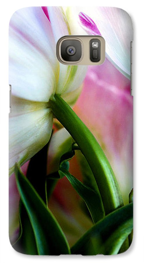 Flower Galaxy S7 Case featuring the photograph Layers Of Tulips by Marilyn Hunt