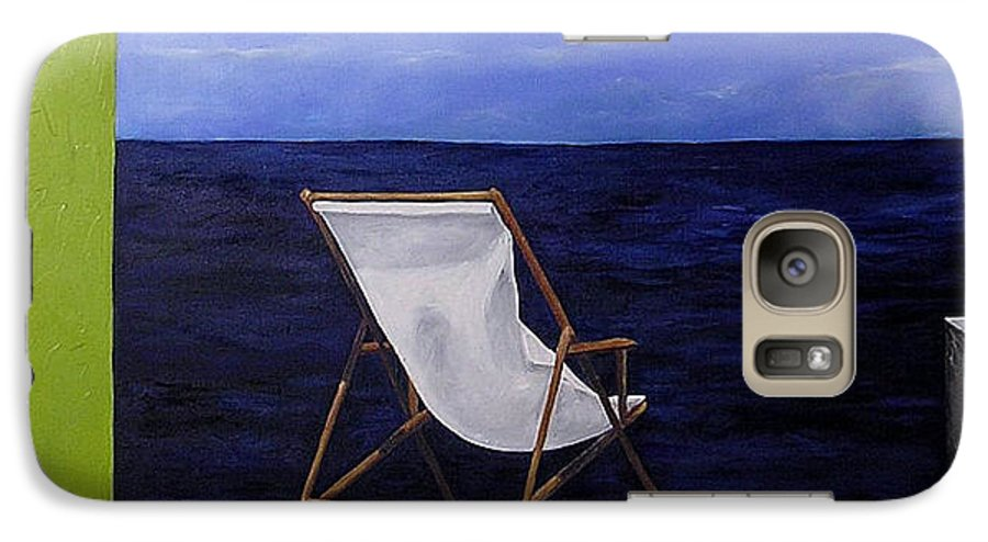 Seascape Galaxy S7 Case featuring the painting Lazy Days by Trisha Lambi