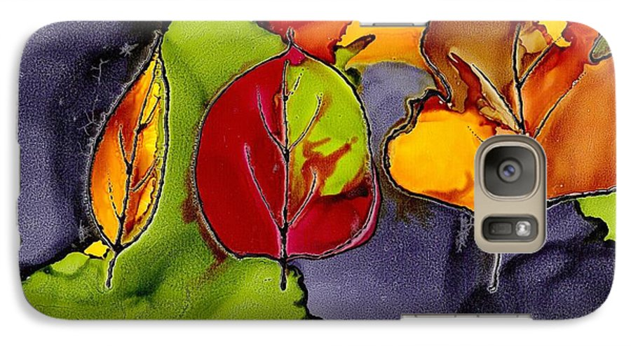 Leaf Galaxy S7 Case featuring the painting Leaf Brilliance by Susan Kubes