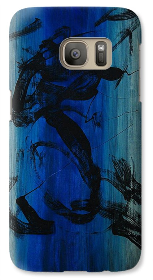 Acrylic Galaxy S7 Case featuring the painting Leap Of Love by Lauren Luna
