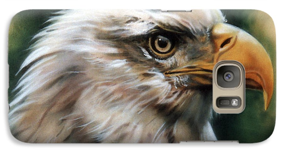 Southwest Art Galaxy S7 Case featuring the painting Leather Eagle by J W Baker