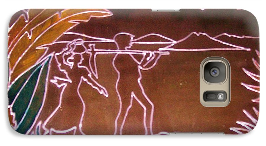 Paradise Galaxy S7 Case featuring the painting Leaving Paradise by Sylvia Hanna Dahdal