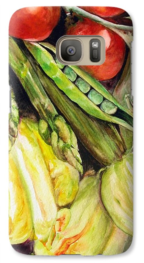 Still Life Galaxy S7 Case featuring the painting Legumes by Muriel Dolemieux