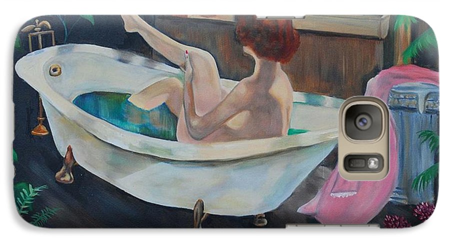 Country Galaxy S7 Case featuring the painting Leisure Time by Margaret Fortunato
