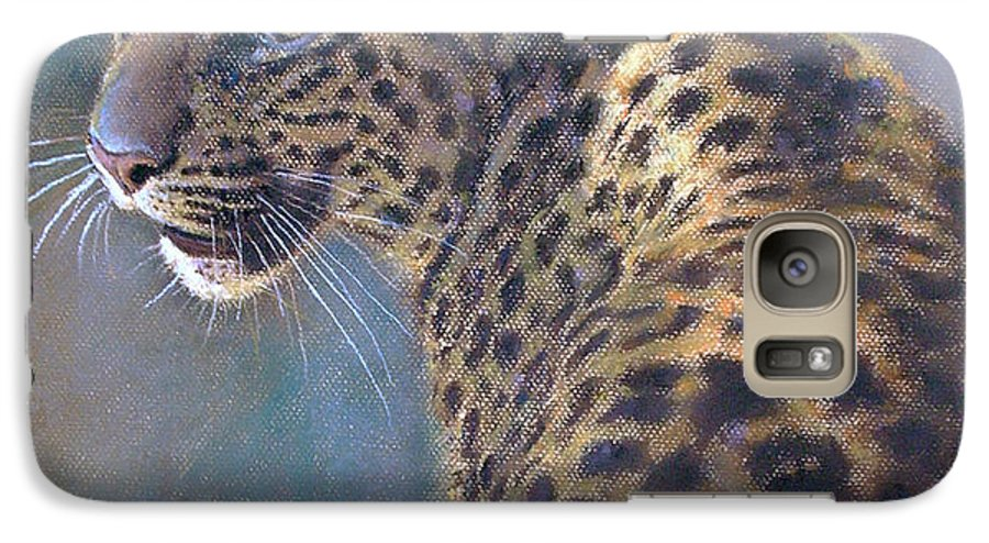 Cats Galaxy S7 Case featuring the painting Leopard by Iliyan Bozhanov