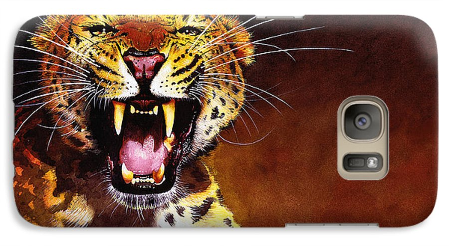 Leopard Galaxy S7 Case featuring the painting Leopard by Paul Dene Marlor