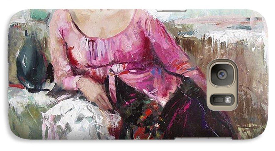 Ignatenko Galaxy S7 Case featuring the painting Lera by Sergey Ignatenko