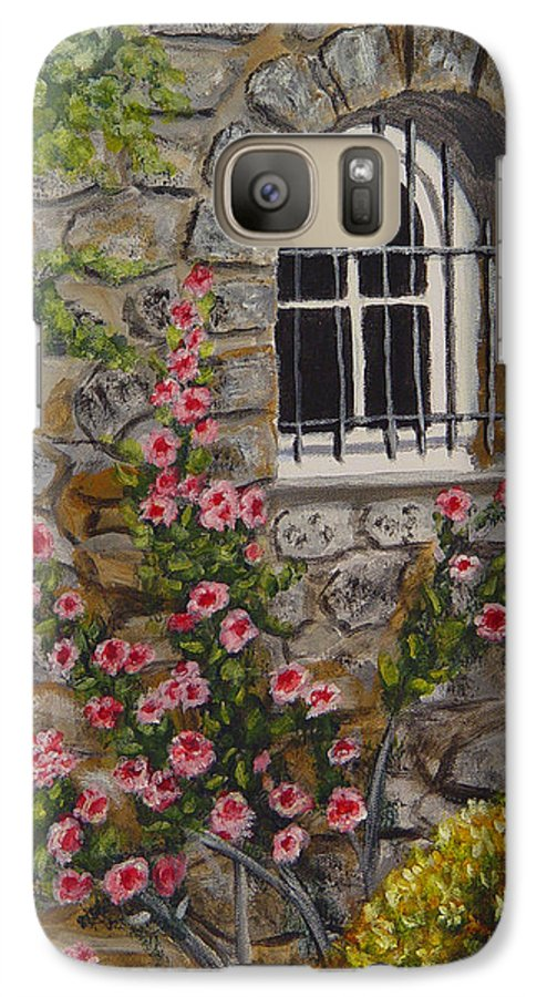 Window Galaxy S7 Case featuring the painting Les Arcs Sur Argens by Quwatha Valentine