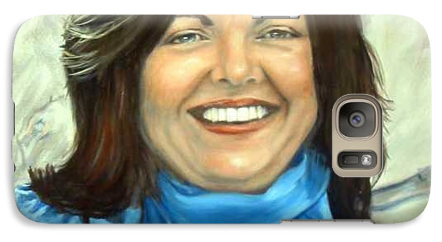 Galaxy S7 Case featuring the painting Leslie Eliason by Anne Kushnick