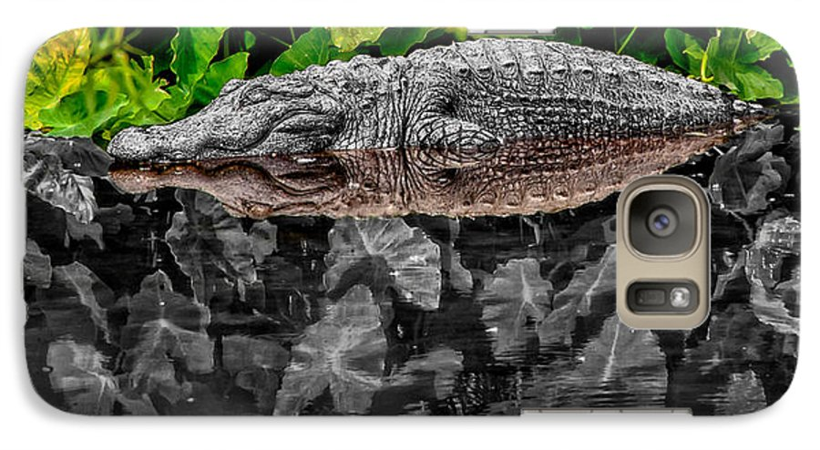 American Galaxy S7 Case featuring the photograph Let Sleeping Gators Lie - Mod by Christopher Holmes