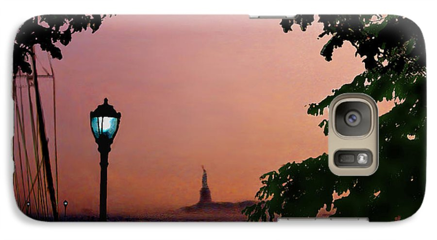 Seascape Galaxy S7 Case featuring the digital art Liberty Fading Seascape by Steve Karol