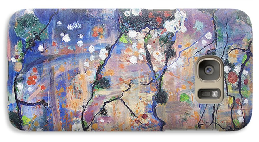 Lichen Paintings Galaxy S7 Case featuring the painting Lichen by Seon-Jeong Kim