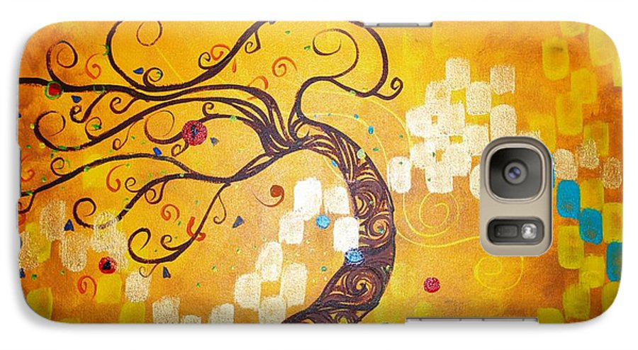 Galaxy S7 Case featuring the painting Life Is A Ball by Stefan Duncan