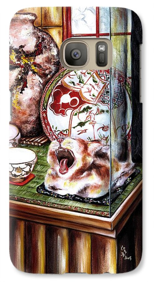 Cat Galaxy S7 Case featuring the painting Life Is Beautiful by Hiroko Sakai
