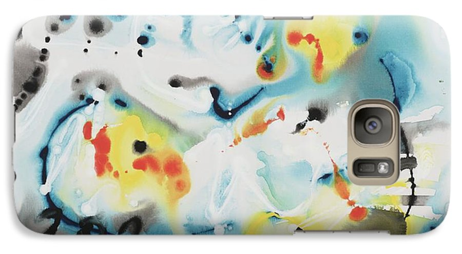 Life Galaxy S7 Case featuring the painting Life by Nadine Rippelmeyer