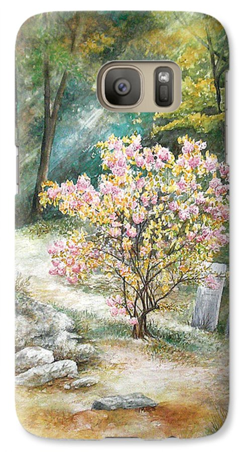 Landscape Galaxy S7 Case featuring the painting Life by Valerie Meotti