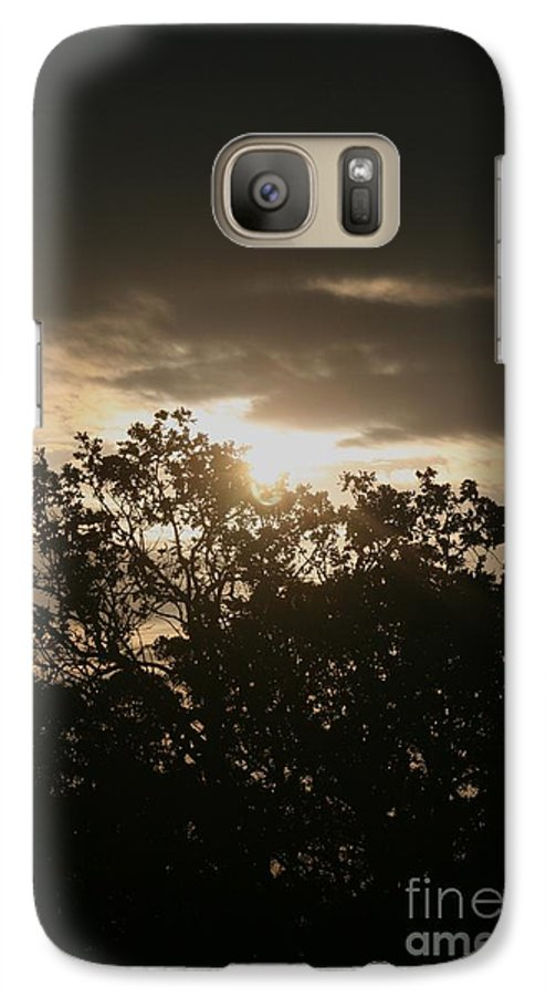 Light Galaxy S7 Case featuring the photograph Light Chasing Away The Darkness by Nadine Rippelmeyer