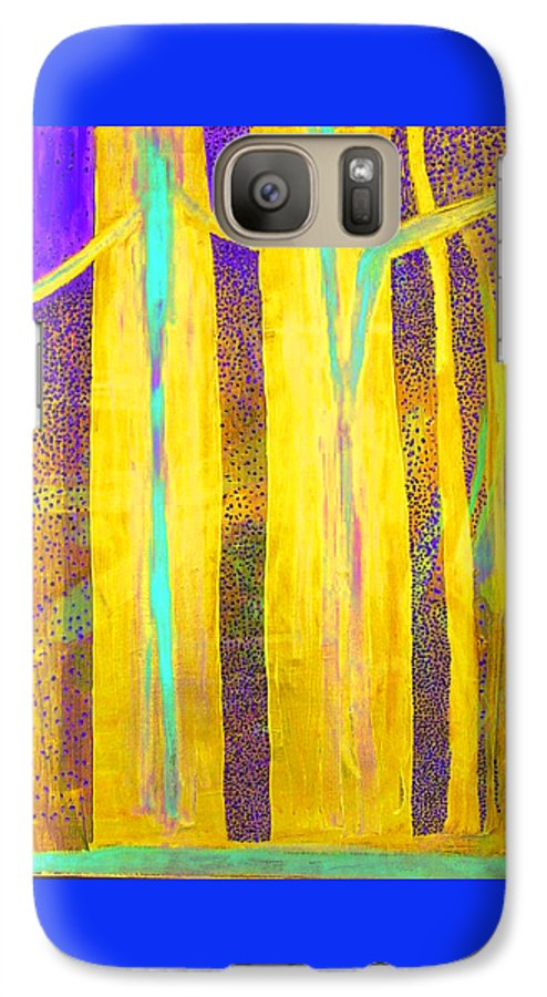 Galaxy S7 Case featuring the painting Light In The Forest by Jarle Rosseland