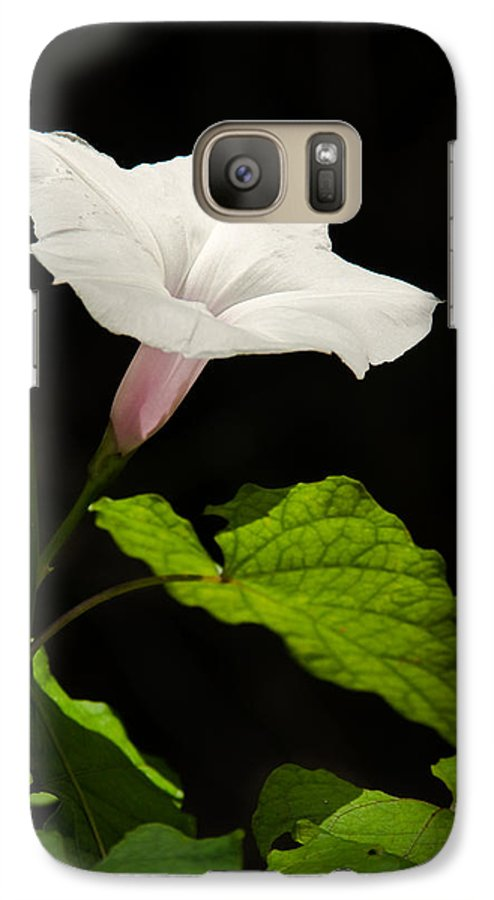 Flower Galaxy S7 Case featuring the photograph Light Out Of The Dark by Christopher Holmes