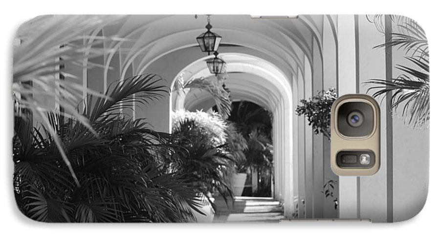 Architecture Galaxy S7 Case featuring the photograph Lighted Arches by Rob Hans