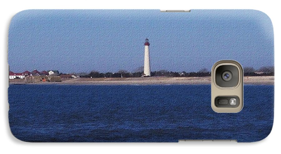 Lighthouse Galaxy S7 Case featuring the photograph Lighthouse At The Point by Pharris Art