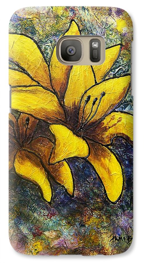 Flowers Galaxy S7 Case featuring the painting Lilies by Tami Booher