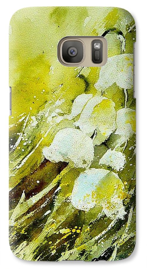 Flowers Galaxy S7 Case featuring the painting Lilly Of The Valley by Pol Ledent