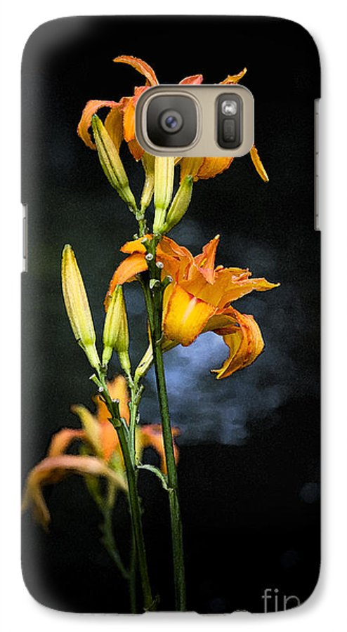 Lily Monet Garden Flora Galaxy S7 Case featuring the photograph Lily In Monets Garden by Avalon Fine Art Photography