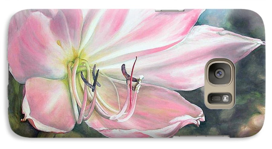 Floral Painting Galaxy S7 Case featuring the painting Lily by Muriel Dolemieux