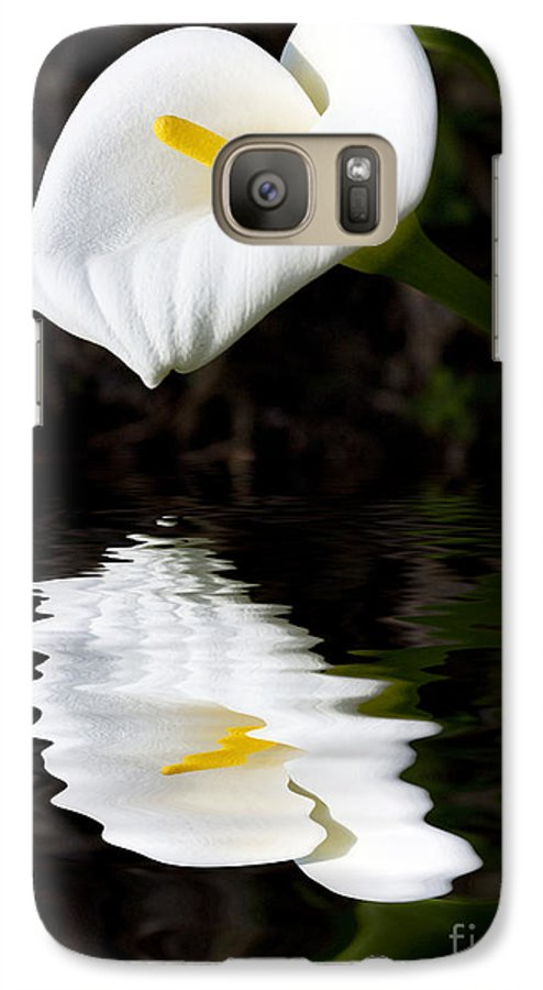 Lily Reflection Flora Flower Galaxy S7 Case featuring the photograph Lily Reflection by Sheila Smart Fine Art Photography
