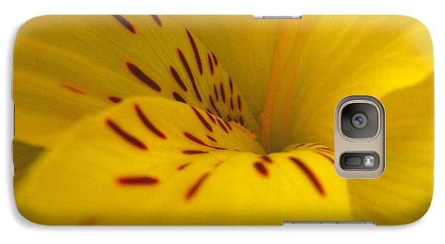 Yellow Galaxy S7 Case featuring the photograph Lily by Rhonda Barrett