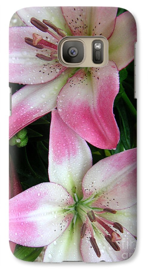 Nature Galaxy S7 Case featuring the photograph Lily Times Two by Lucyna A M Green