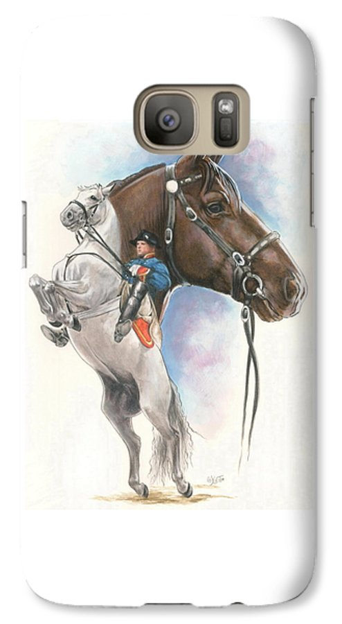 Equus Galaxy S7 Case featuring the mixed media Lippizaner by Barbara Keith