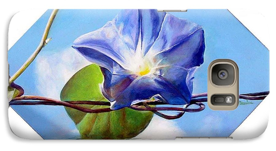 Floral Painting Galaxy S7 Case featuring the painting Liseron by Muriel Dolemieux
