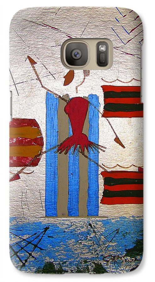 Ballerina Galaxy S7 Case featuring the mixed media Little Ballerina by J R Seymour