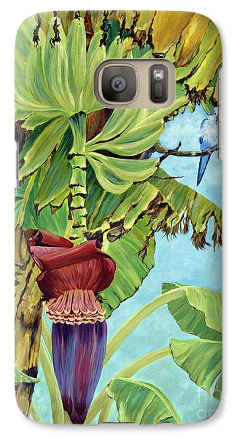 Tropical Galaxy S7 Case featuring the painting Little Blue Quaker by Danielle Perry