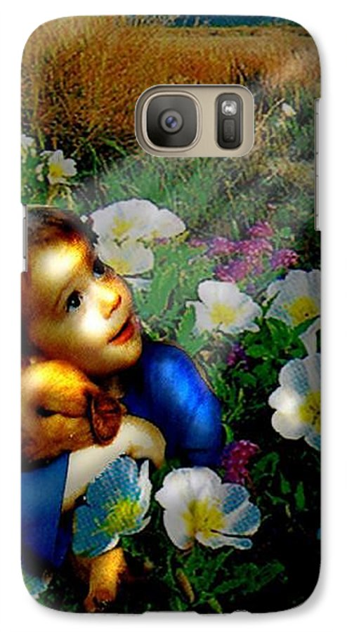 A Small Boy Loses His Puppy. Searches All Day. Finds Sick Puppy In The Rain. Now Both Are Lost Until Galaxy S7 Case featuring the digital art Little Dog Lost by Seth Weaver
