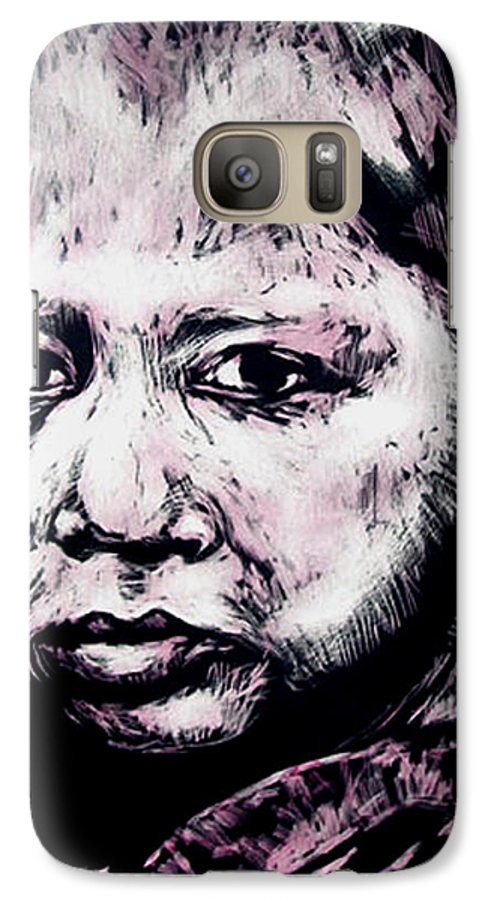 Galaxy S7 Case featuring the mixed media Little Rosita by Chester Elmore