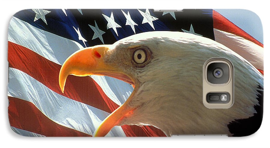 Eagle Galaxy S7 Case featuring the photograph Live Free Or Die by Carl Purcell