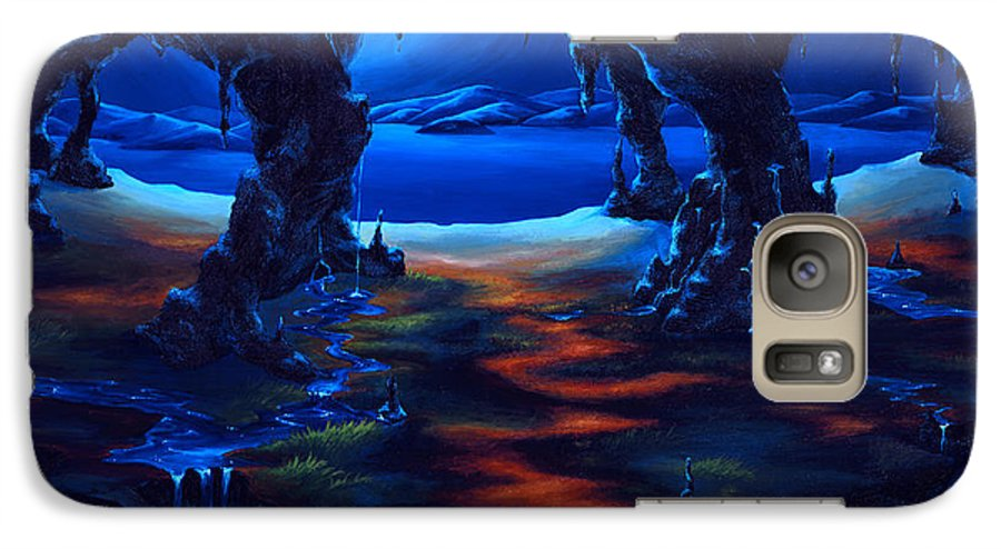 Textured Painting Galaxy S7 Case featuring the painting Living Among Shadows by Jennifer McDuffie