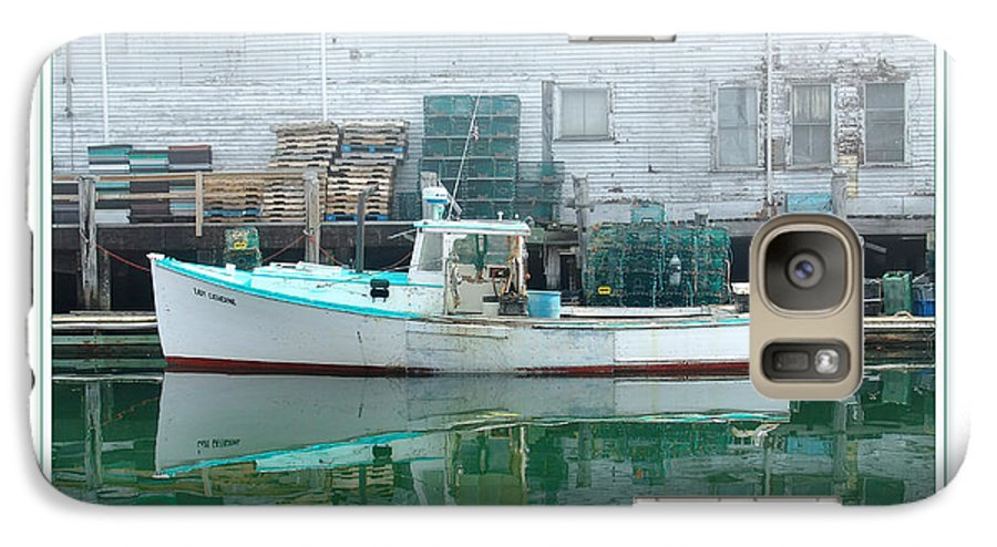 Landscape Galaxy S7 Case featuring the photograph Lobster Boat by Peter Muzyka