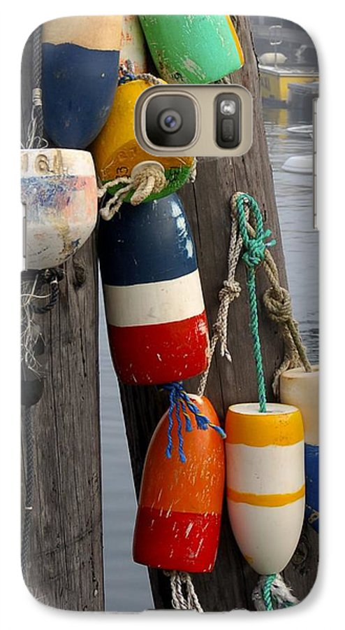 Lobster Galaxy S7 Case featuring the photograph Lobster Buoy At Water Taxi Pier by Faith Harron Boudreau