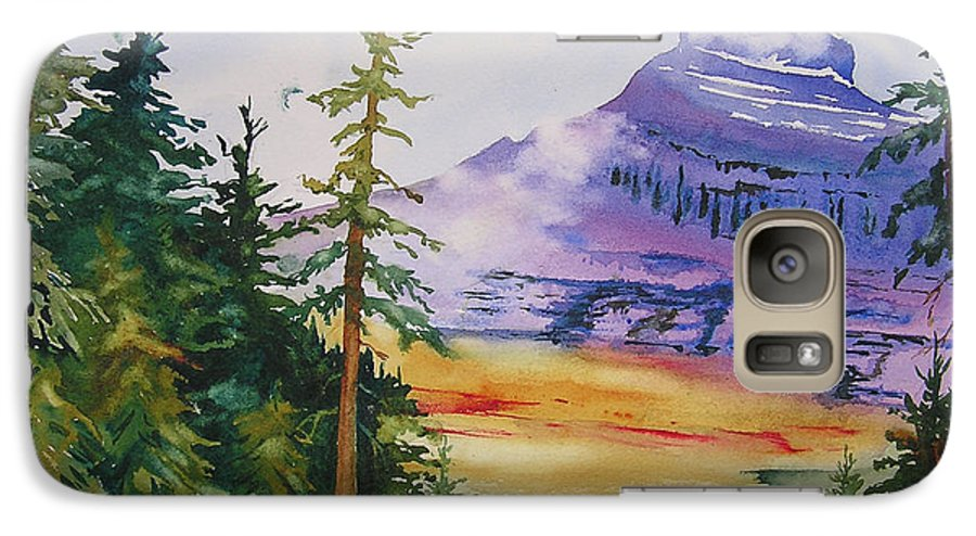 Landscape Galaxy S7 Case featuring the painting Logan Pass by Karen Stark