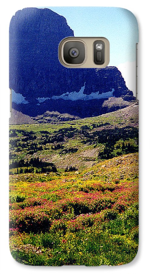Glacier National Park Galaxy S7 Case featuring the photograph Logans Pass In Glacier National Park by Nancy Mueller