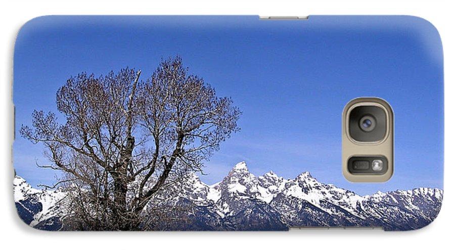 Tree Galaxy S7 Case featuring the photograph Lone Tree At Tetons by Douglas Barnett
