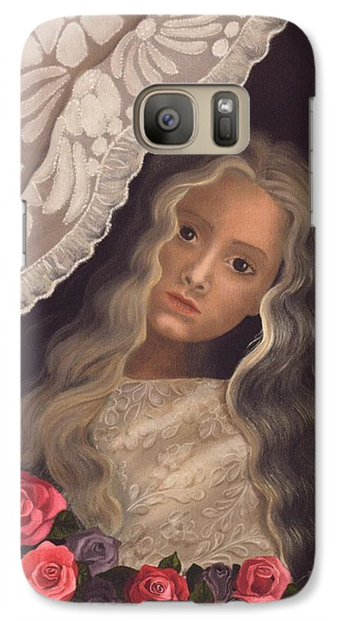 Victorian Galaxy S7 Case featuring the painting Longing by Brenda Ellis Sauro